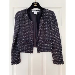 $2800 Oscar de la Renta tweed boucle blazer jacket